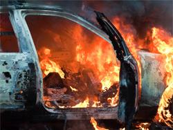 Ночью в Комсомольском районе горели автомобили