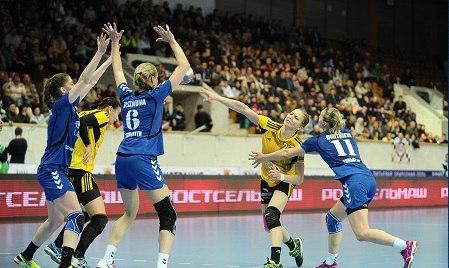 Гандболистки «Лады» уступили в первом матче 1/4 финала Кубка России