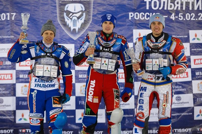В Тольятти стартовал Личный чемпионат мира по мотогонкам на льду 2017 года!
