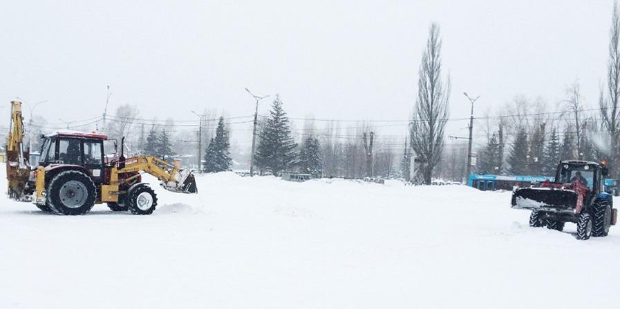 С начала зимы с улиц города было вывезено более 65 тысяч кубометров снега
