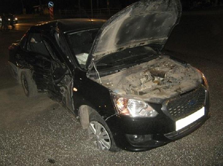 Авария «Datsun on-DO» и «Nissan Almera» в Центральном районе. Информация ГИБДД (фото)