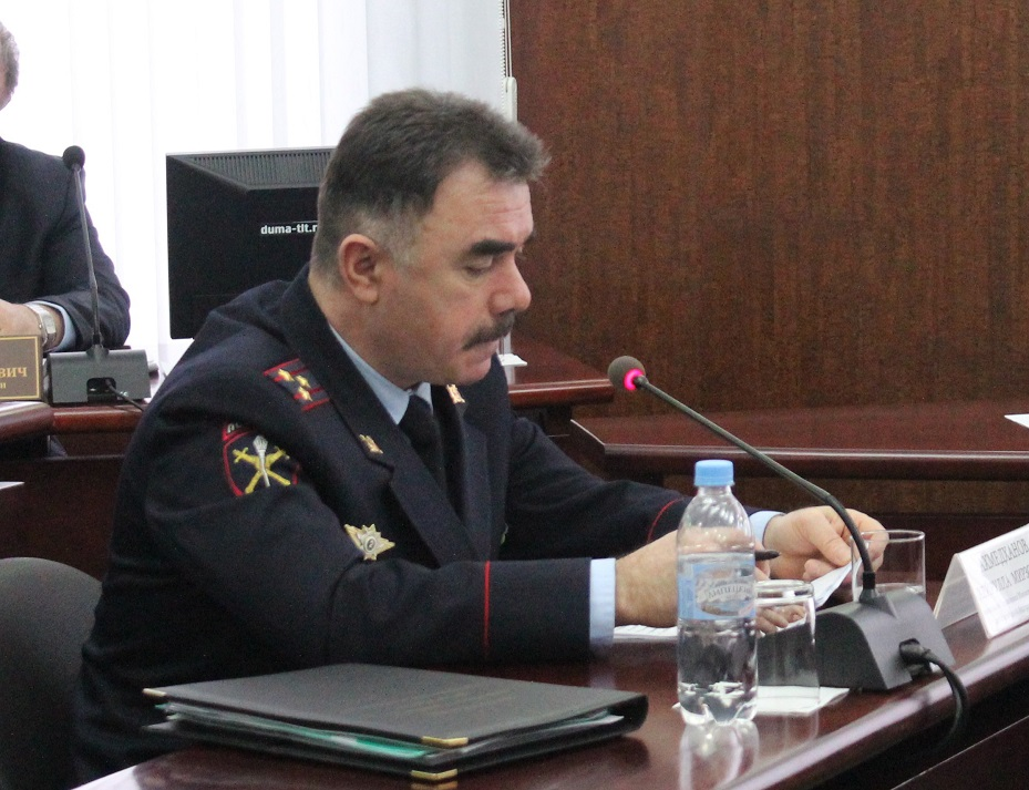 В Думе Тольятти заслушали отчет начальника городской полиции за первое полугодие