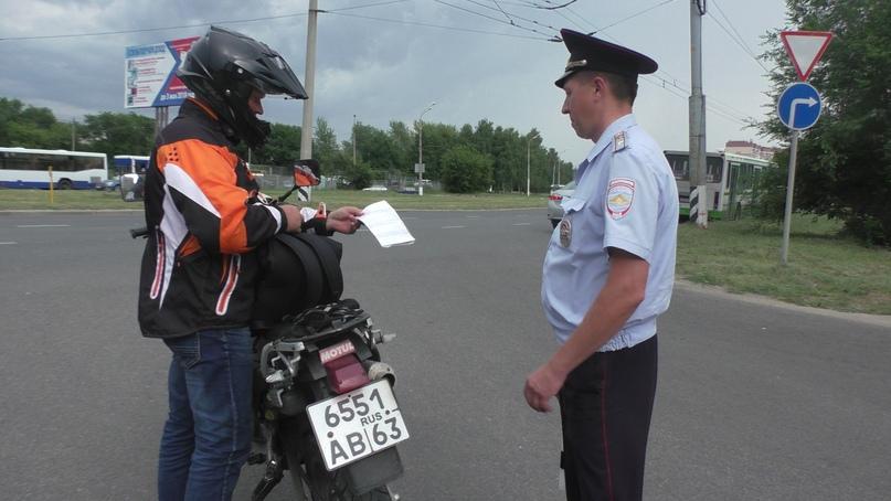 Мотоциклисты Тольятти продолжают нарушать ПДД
