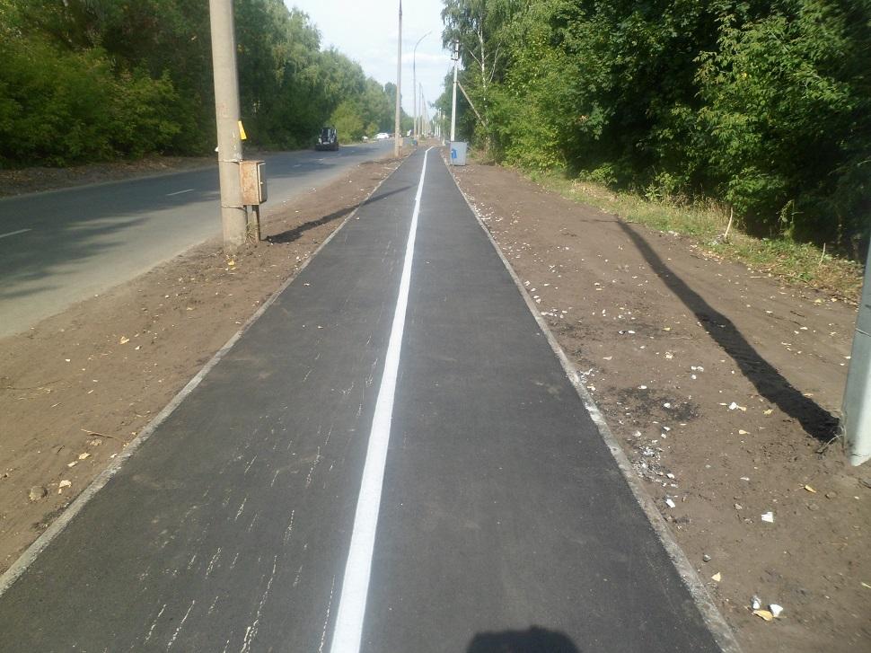 В Тольятти появилась новая велопешеходная дорожка