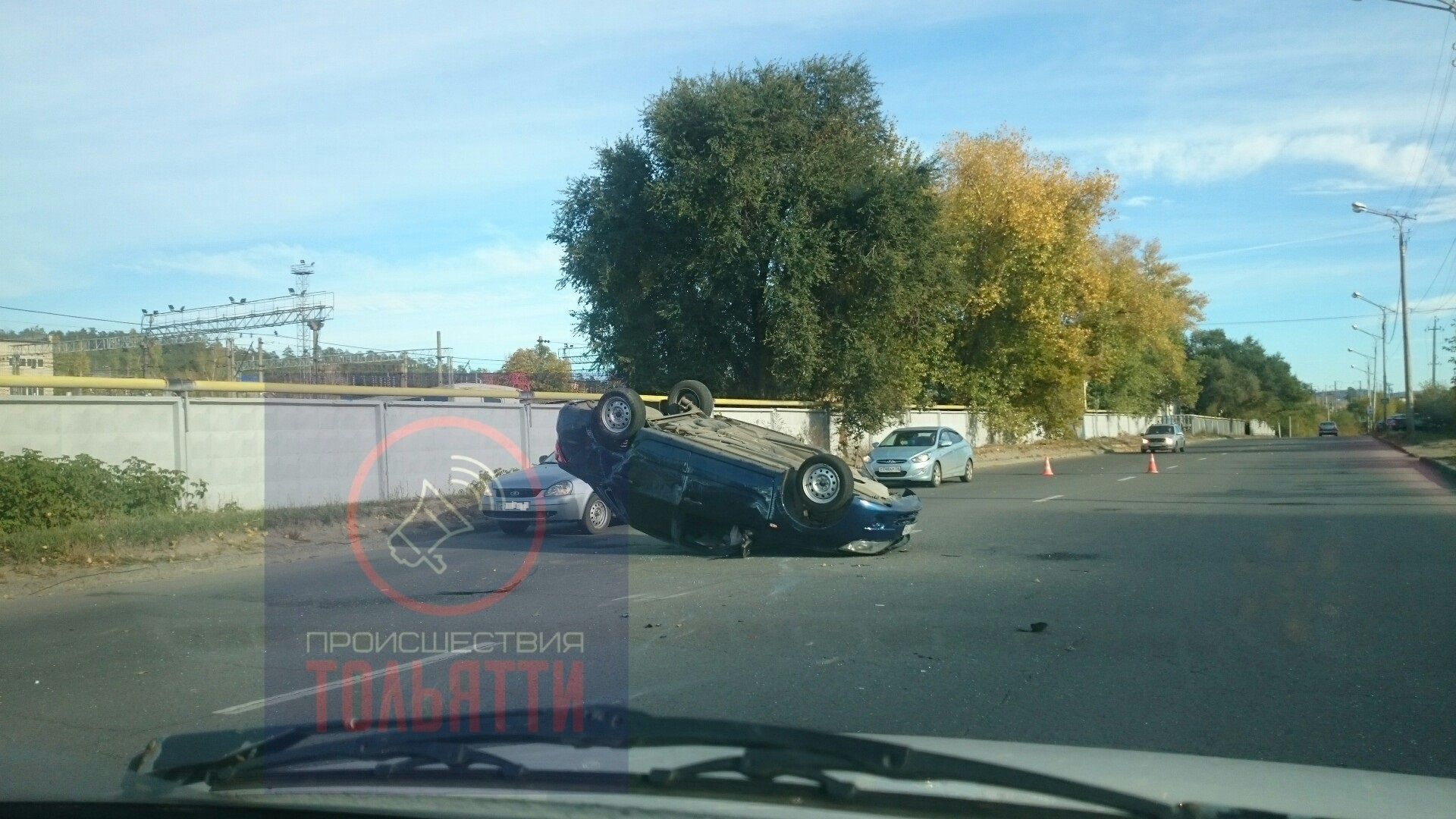 В Тольятти водитель перевернулся на «Гранте» и получил травмы