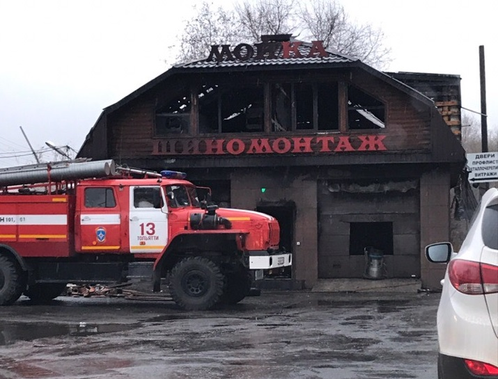 В Тольятти 33 человека тушили шиномонтажную мастерскую