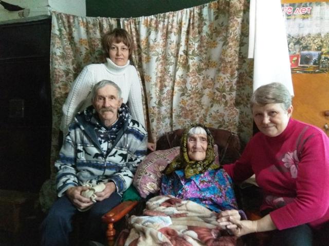 Власти поздравили тольяттинку со столетним юбилеем