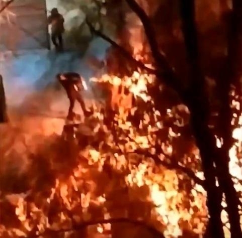 Ночью в Тольятти у торгового центра выгорели строительные вагончики