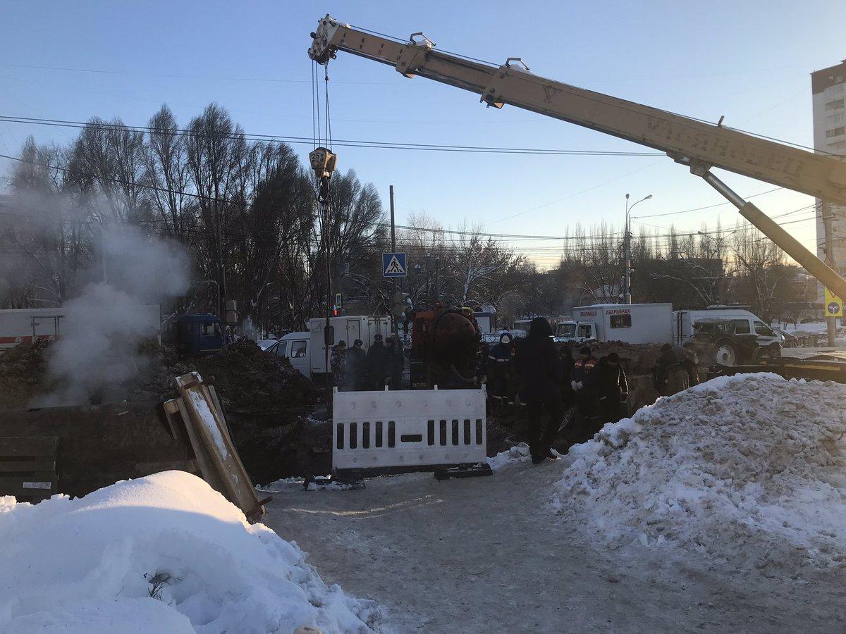 Тольятти помогает Самаре в ликвидации последствий крупной коммунальной аварии