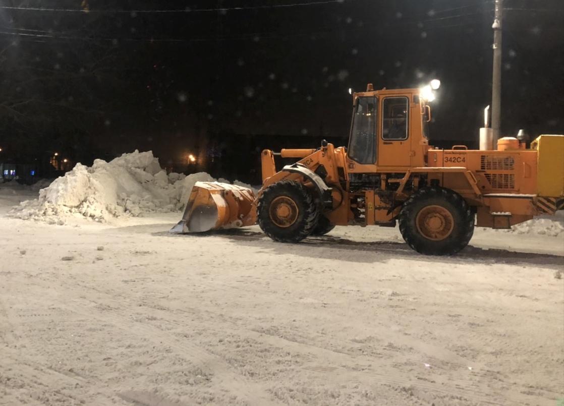 С начала зимы с дорог Тольятти вывезли 19,6 тыс. кубометров снега