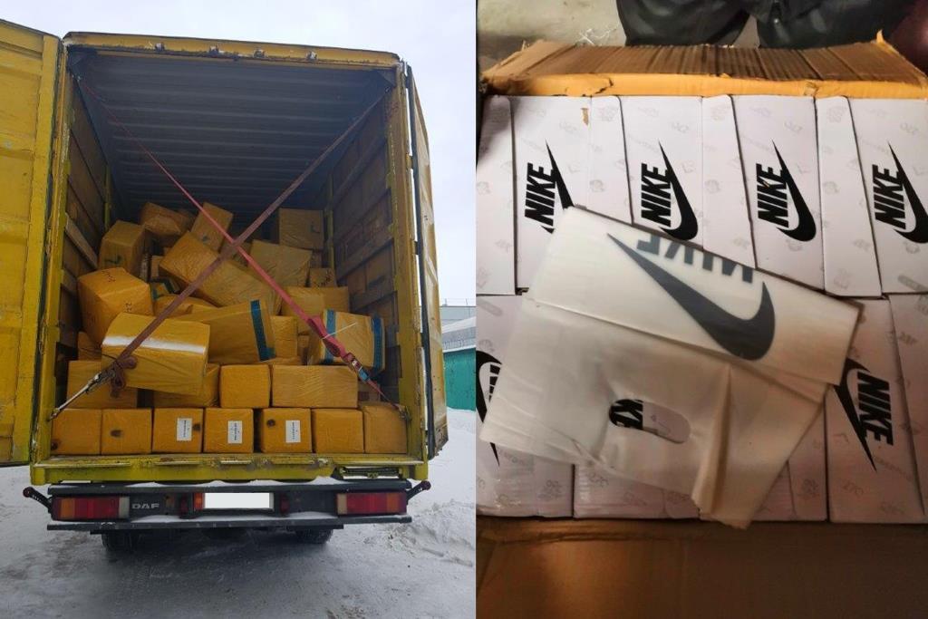 В Самарской области задержали фуры с поддельными «Найками» на 40 млн рублей