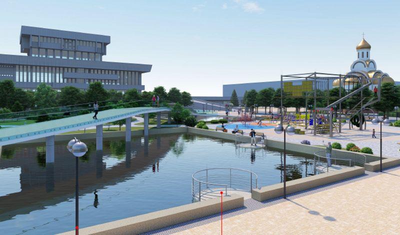 Мост над бассейнами: Как будет выглядеть сквер имени Сергея Жилкина