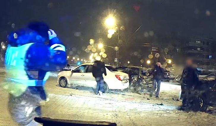 Пьяный тольяттинец в метель устроил аварию, в которой пострадал человек