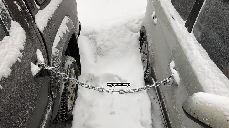 В Самарской области малограмотные вымогатели сковали машины цепью и потребовали выкуп