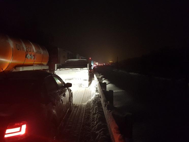 Продлены ограничения движения на трассе М-5 под Тольятти