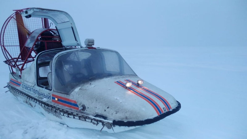 Под Тольятти во время метели спасали рыбаков, увязших в снегу