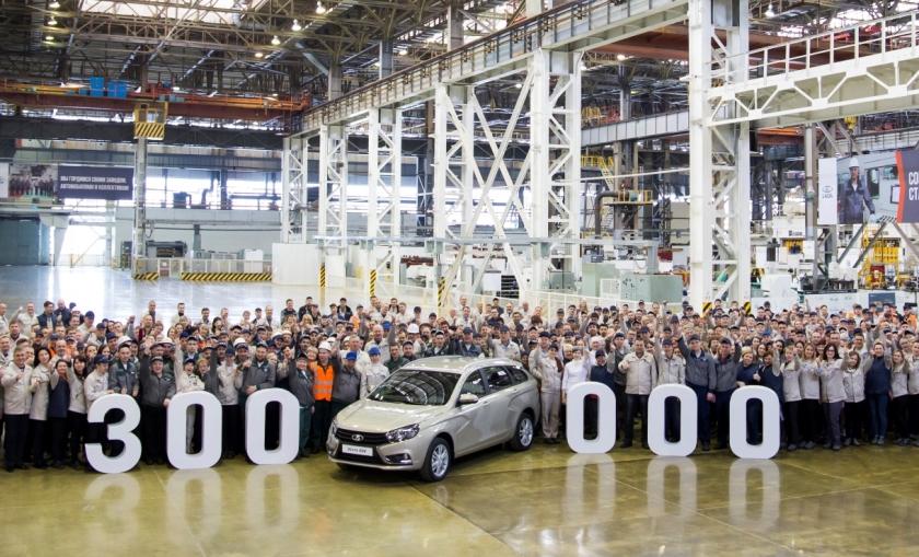 На АВТОВАЗе выпущено 300 000 автомобилей LADA Vesta