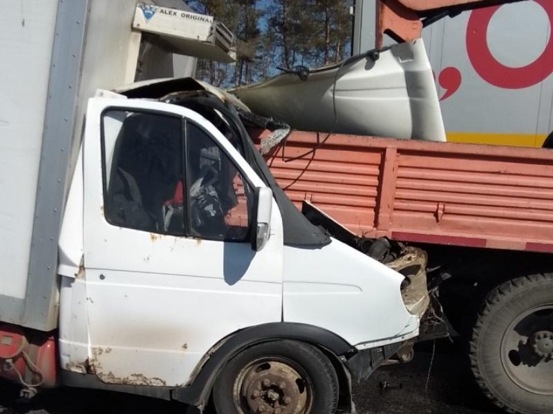 На трассе под Тольятти «Газель» врезалась в грузовик. Водитель погиб