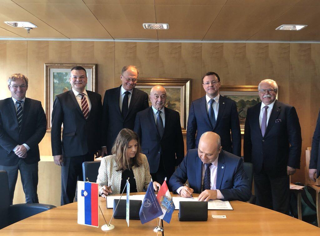 Торгово-промышленные палаты Самарской области и Словениизаключили соглашение о сотрудничестве