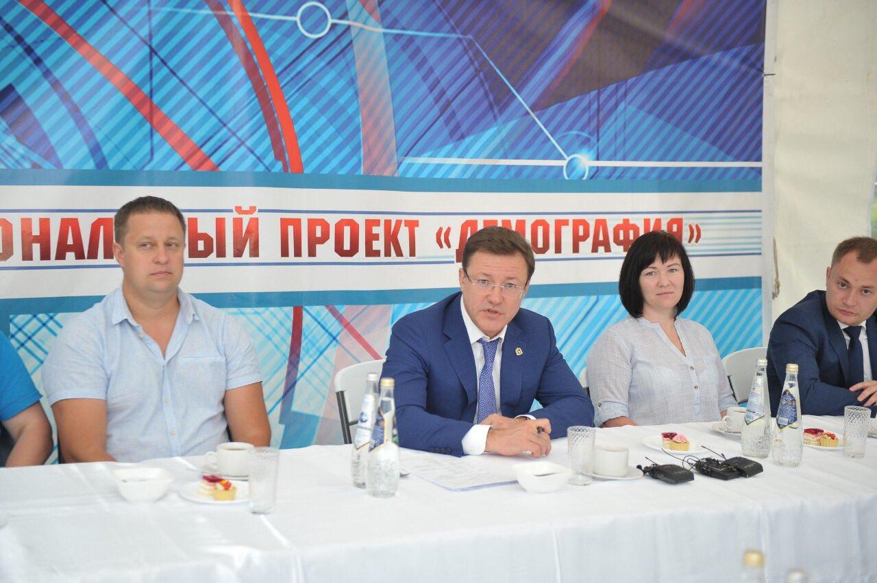 Губернатор Дмитрий Азаров встретился с жителями Красноярского района