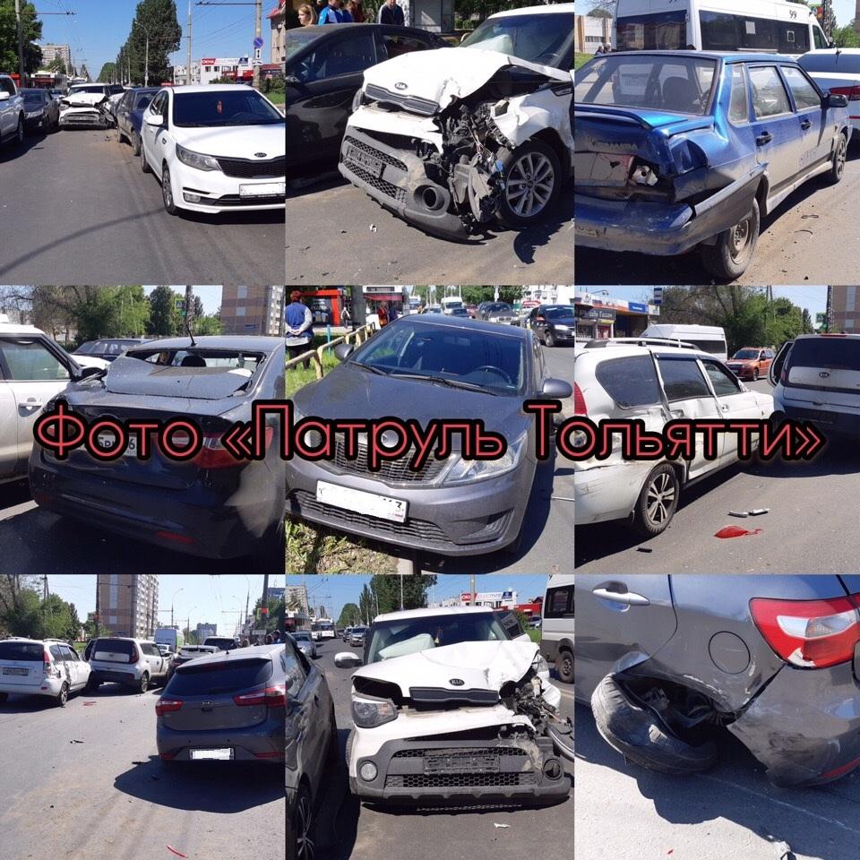 В Тольятти столкнулись 7 автомобилей