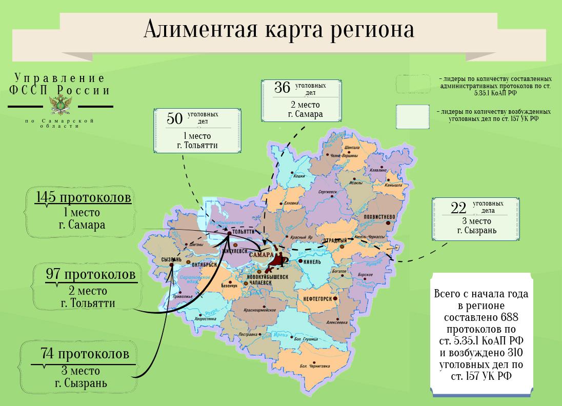 Приставы составили алиментную карта региона. Тольятти в лидерах
