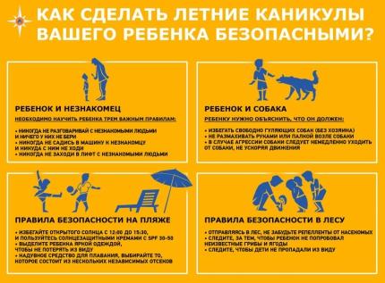 Как обезопасить детей во время летних каникул