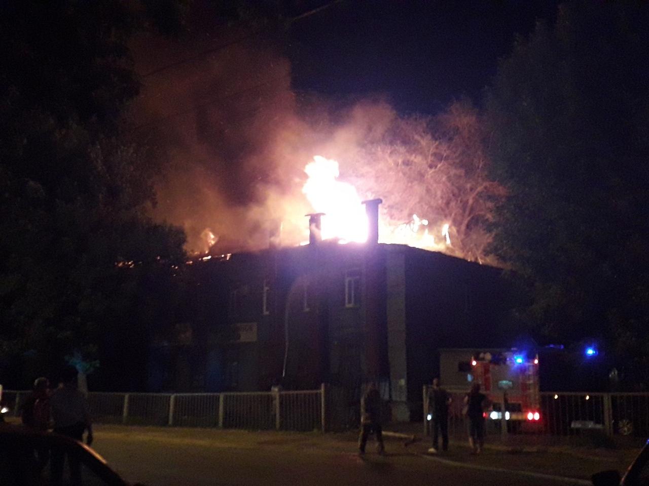 В Тольятти сгорело похоронное бюро