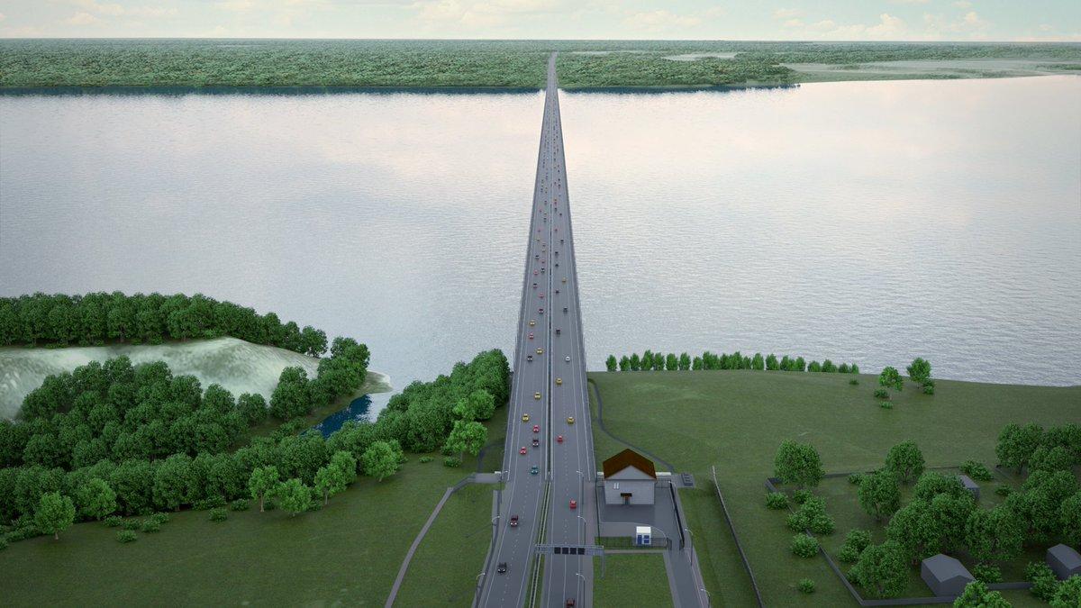 Власти подготовили тарифы для проезда по новому мосту вблизи Тольятти