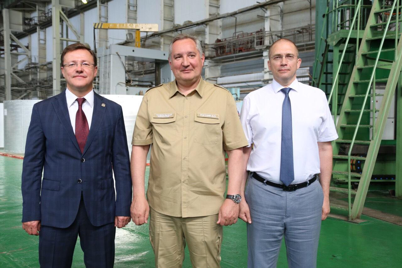 Дмитрий Азаров и Дмитрий Рогозин посетили РКЦ «Прогресс»
