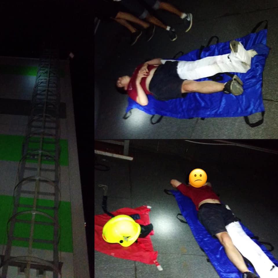 В Тольятти подростка со сломаной ногой сняли с крыши на ул. Баныкина