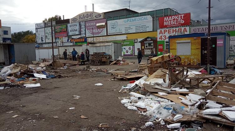 В Тольятти сносят рынок у «Старого торгового»
