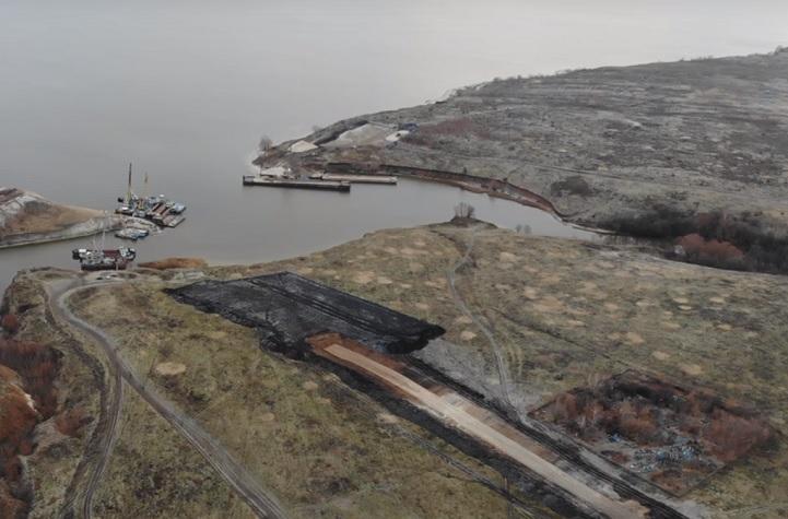 В Самарской области сняли с высоты старт строительства нового моста через Волгу