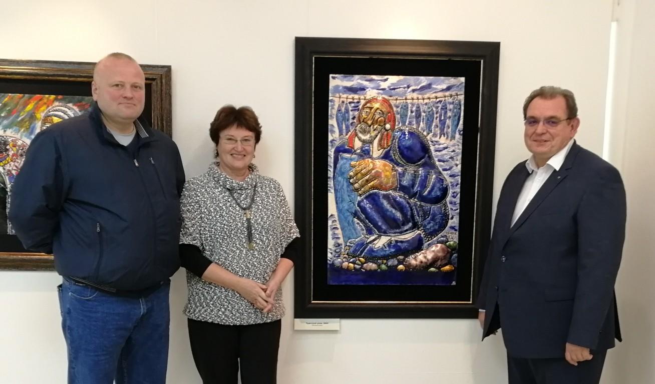 Зураб Церетели подарил Тольяттинскому художественному музею «Чудесный улов»