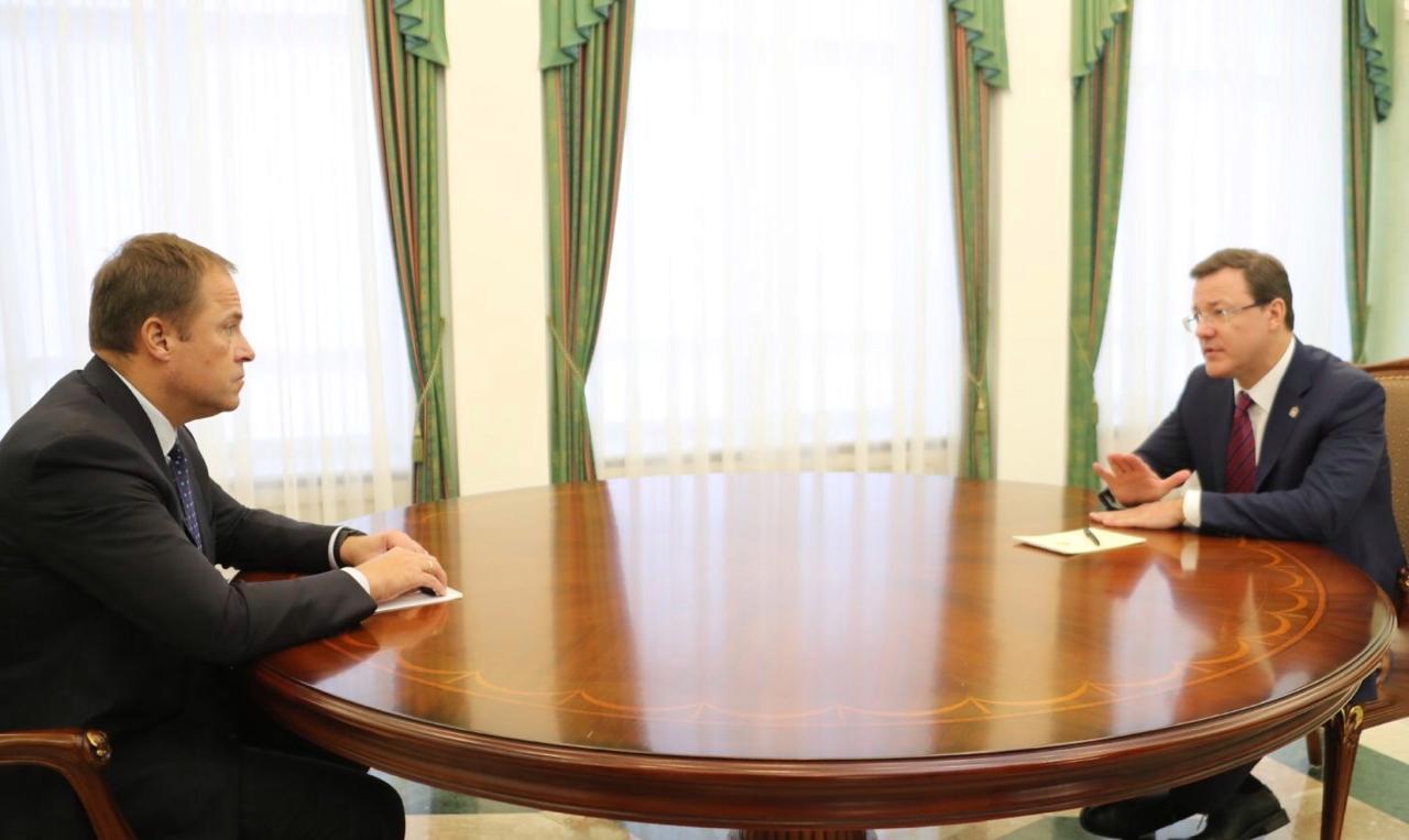 Губернатор рассказал полпреду о реализации нацпроектов в Самарской области