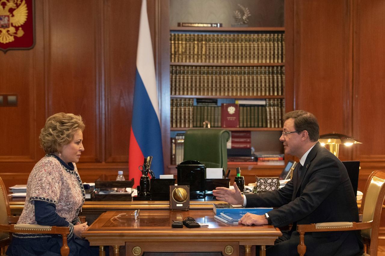 Дмитрий Азаров и Валентина Матвиенко обсудили итоги социально-экономического развития Самарской области
