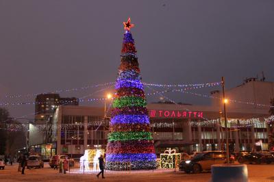 Афиша новогодних гуляний в Тольятти
