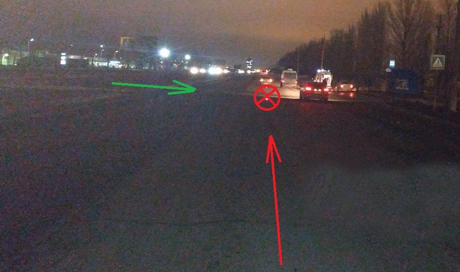 В Тольятти в темноте на переходе машина сбила подростка