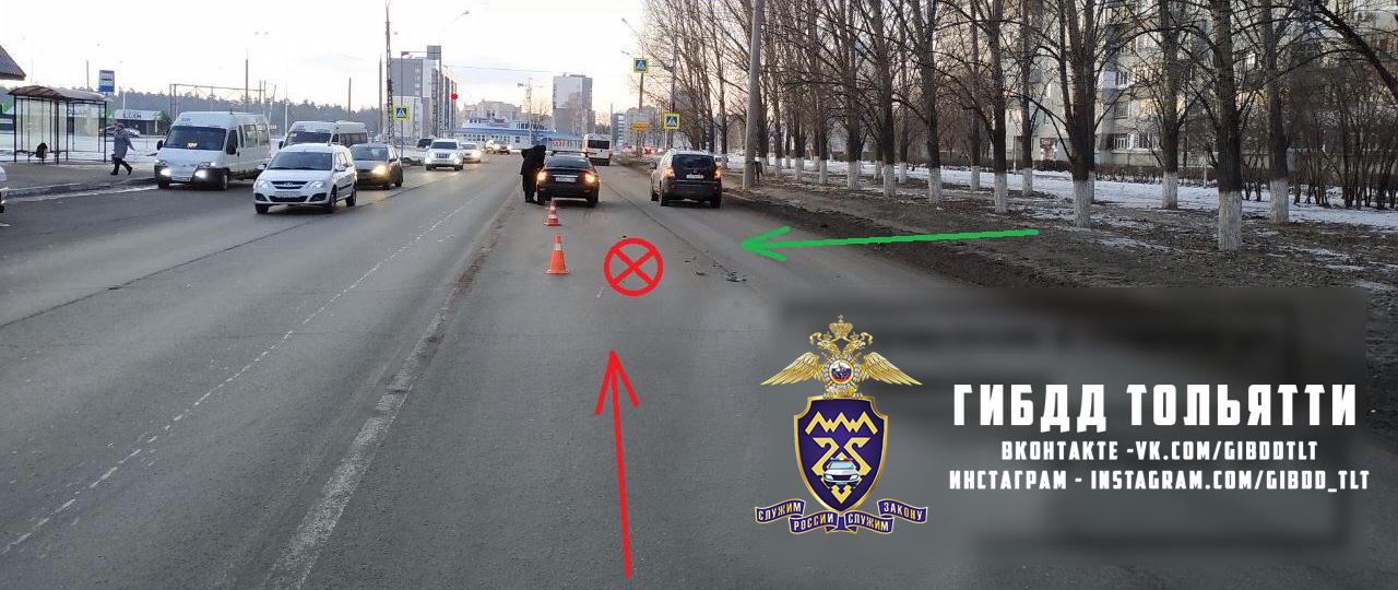 В Тольятти на дорогах за два часа пострадали две женщины
