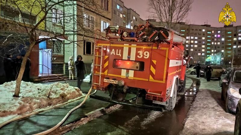 В МЧС назвали причину пожара в тольяттинской квартире, где погибли супруги