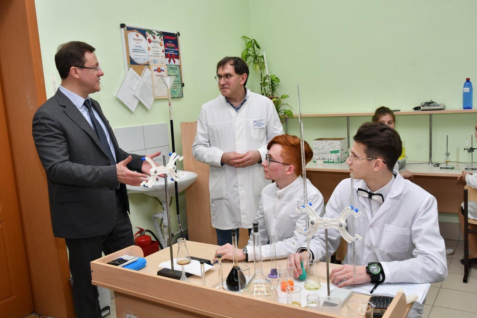 Дмитрий Азаров пообщался с воспитанниками центра для одаренных детей «Вега»