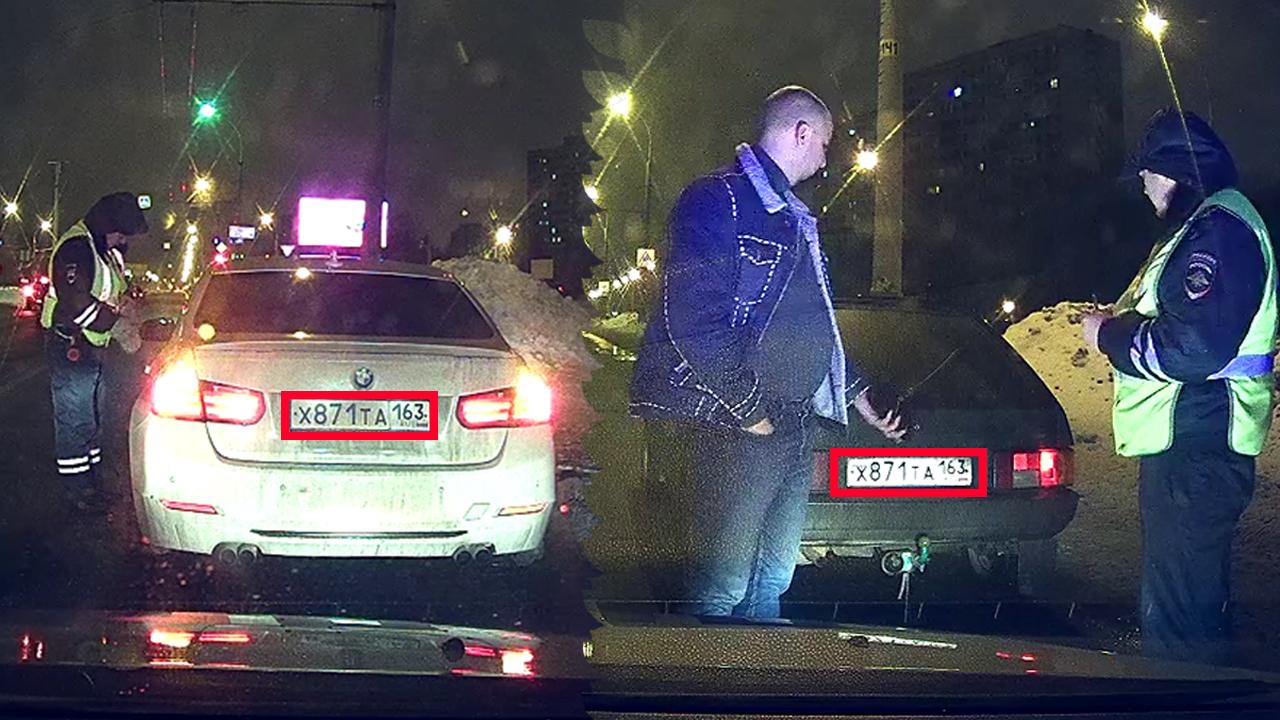 В Тольятти сотрудники ДПС остановили машины с одинаковыми номерами