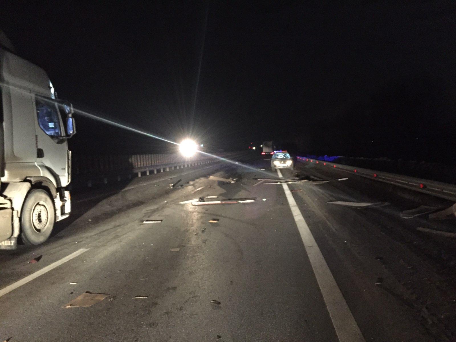 На трассе М-5 под Тольятти тягач сбил троих людей