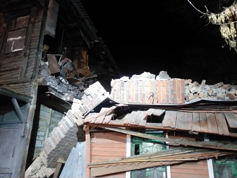 В Самаре на жилой дом обрушилась стена здания, построенного в 1917 году