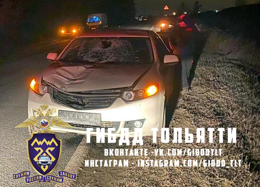 В Тольятти пешеход пробил телом лобовое стекло. Он в реанимации