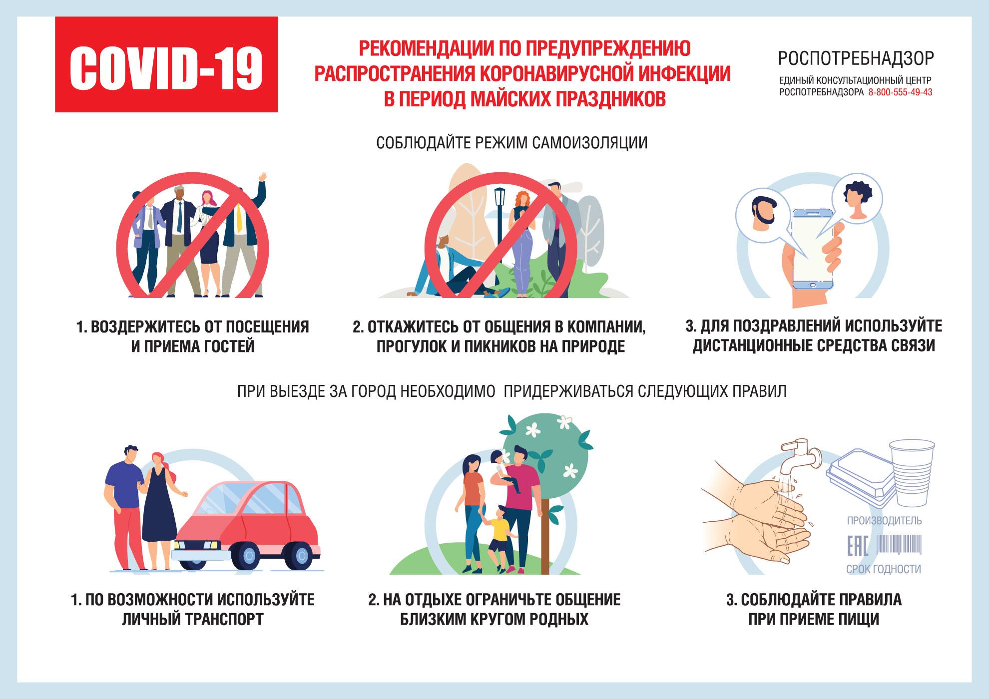 Для россиян разработали рекомендации на майские праздники