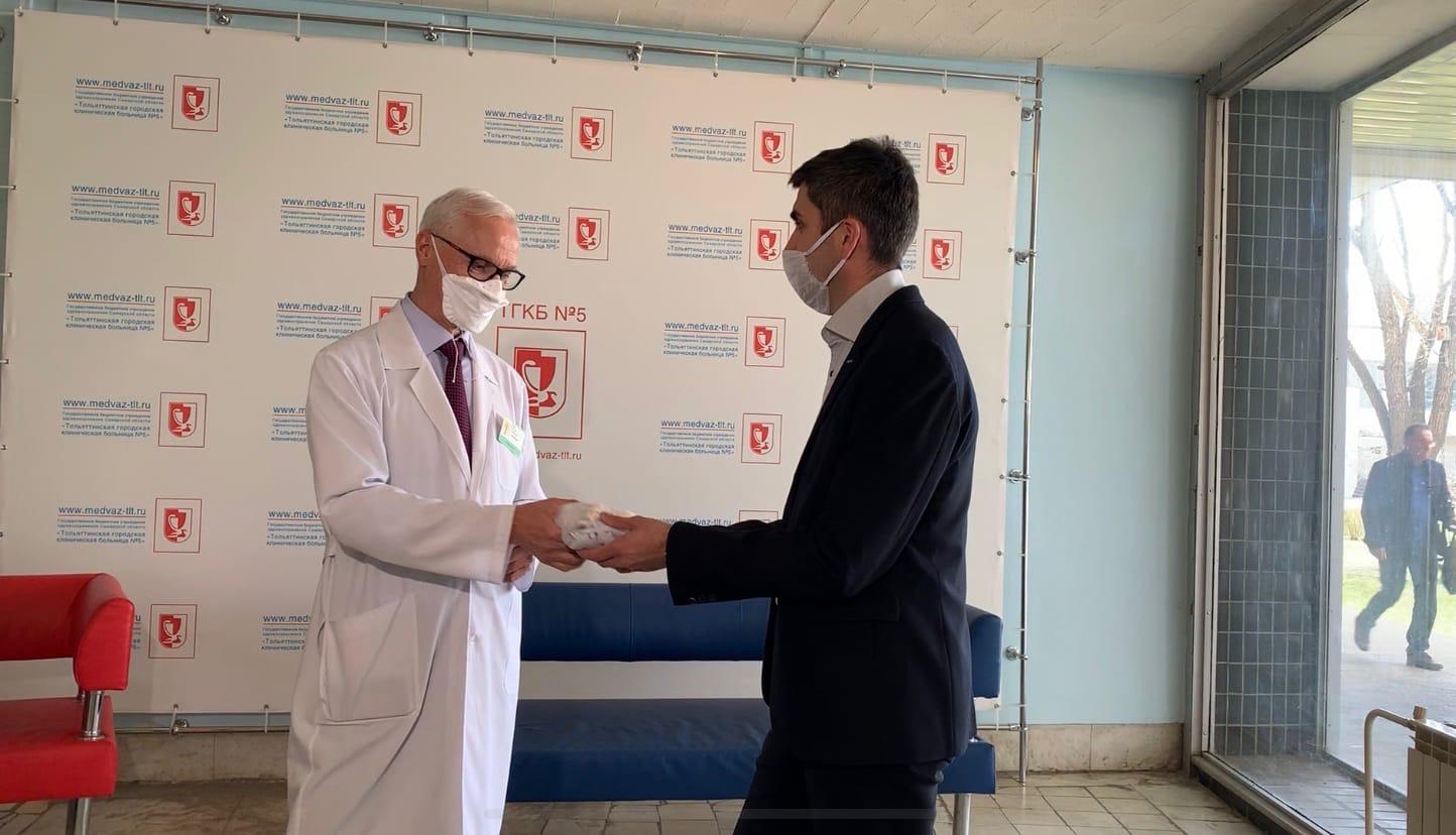 Резидент ОЭЗ «Тольятти» передал 20000 масок для пациентов Медгородка
