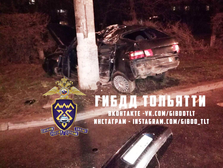 В Тольятти молодой нарушитель намотал машину на столб