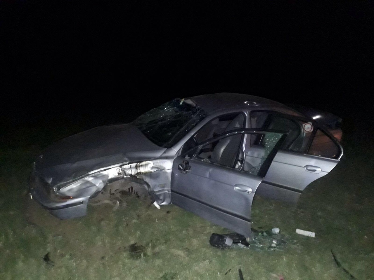 В Тольятти бесправный водитель перевернулся на BMW