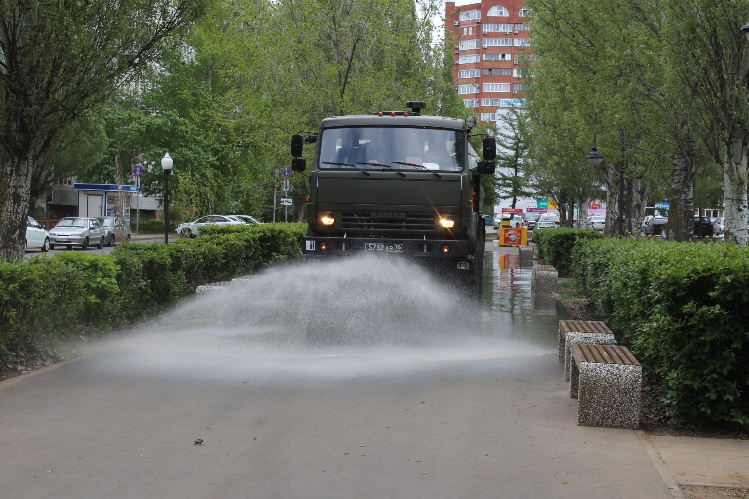 Военные начали массовую дезинфекцию территорий в Самаре и Тольятти